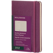 "2017, Moleskine, Pocket 3.5"" x 5.5"", 12M Weekly Notebook, Jan - Dec 2017, Grape Violet, Hard Cover (8051272894097)"