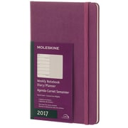 "2017, Moleskine, Large 5"" x 8.25"", 12M Weekly Notebook, Jan - Dec 2017, Grape Violet, Hard Cover (8051272894134)"