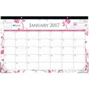 2017 Blue Sky 17x11 Monthly Desk Pad Calendar, Breast Cancer Awareness Alexandra (18017)