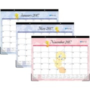 2017 Blue Sky 22x17 Monthly Desk Pad Calendar, Looney Tunes Tweety (17958)