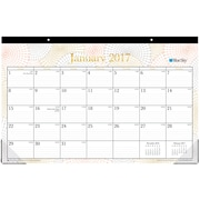 2017 Blue Sky 17x11 Monthly Desk Pad Calendar, Luminous (19145)