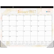 2017 Blue Sky 22x17 Monthly Desk Pad Calendar, Luminous (19144)