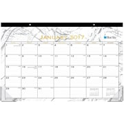 2017 Blue Sky 17x11 Monthly Desk Pad Calendar, Carerra (18932)