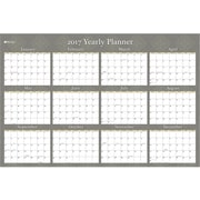 2016-2017 Blue Sky 36x24 Yearly Laminated Planner, Adriana (18768)