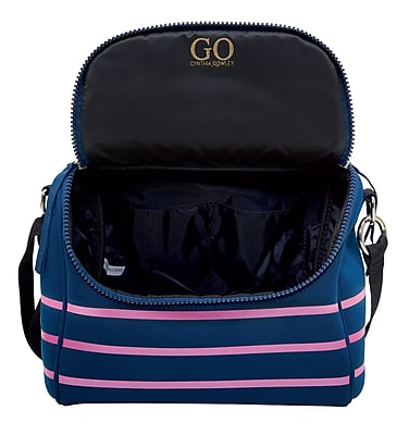 Cynthia Rowley Navy Blue with Pink Stripes Lunch Bag 29922 US