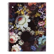 "Cynthia Rowley Notebook, College Ruled, Cosmic Black Floral 8"" x 10.5"" (29900-US)"