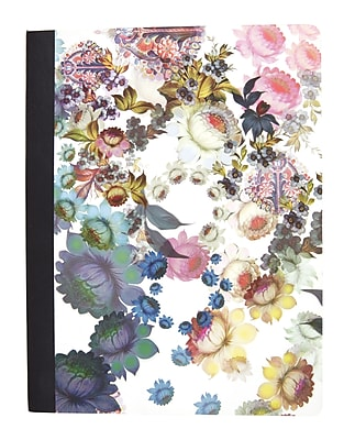 Cynthia Rowley Composition Book College Ruled Cosmic White Floral 9 3 4 x 7 1 2 29897 US