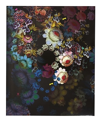 Cynthia Rowley Two Pocket Folder Cosmic Black Floral 29728