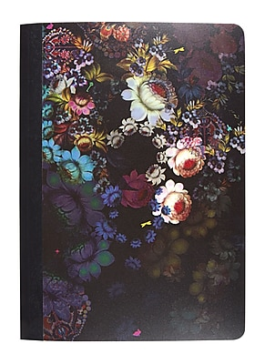 Cynthia Rowley Mini Composition Book College Ruled Cosmic Black Floral 5 x 7 50102 US