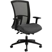 Global Vion Mesh Managers Office Chair, Adjustable Arms, Granite Rock (6321-8-UR20)