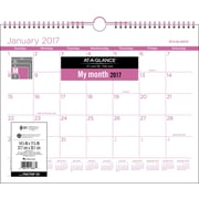 "AT-A-GLANCE® Wall Calendar, 2017 Purple, 15"" x 12"", Color Play (PMCP8P 59 17)"