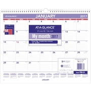 "AT A GLANCE® Monthly Wall Calendar, 2017, 15"" x 12"" (PM8 28 17)"