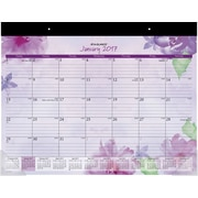 "AT-A-GLANCE® Desk Pad Calendar, 2017, 21 3/4"" x 17"", Beautiful Day (SK38 704 17)"