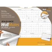"AT A GLANCE® Dry Erase Yearly Calendar, 2017, 24"" x 18"", WallMates® Self Adhesive (AW5060 28 17)"