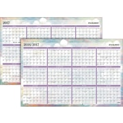 "AT-A-GLANCE® Erasable Wall Planner, Reversible, 2017, 24"" x 36"", Dreams (PM83 550 17)"