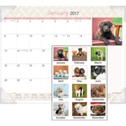 "AT-A-GLANCE® Desk Pad, 2017, 22"" x 17"", Puppies (DMD166 32 17)"