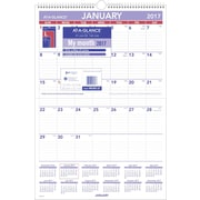 "AT A GLANCE® Erasable Monthly Wall Calendar, 2017, 15 1/2"" x 22 3/4"" (PMLM03 28 17)"