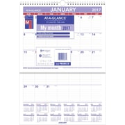 "AT-A-GLANCE® Erasable Monthly Wall Calendar, 2017, 12"" x 17"" (PMLM02 28 17)"
