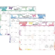 "AT-A-GLANCE® Wall Calendar, 2017, 15"" x 12"", Watercolors (PM91 707 17)"