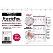"AT A GLANCE® Move A Page Three Month Wall Calendar, 2017, 12"" x 26 1/2"" (PMLF11 28 17)"