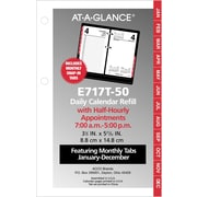 "AT-A-GLANCE® Daily Loose-Leaf Desk Calendar Refill, 2017, 3 1/2"" x 6"" (E017-50-17)"