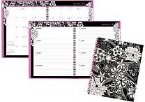 AT-A-GLANCE® Weekly/Monthly Planner, 2017, 8 1/2' x 11', FloraDoodle (189-905-17)