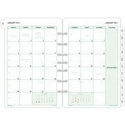 "Day-Timer® Two Page Per Month Loose-Leaf Planner Refill Pages, 2017, 5 1/2"" x 8 1/2"", Classic Desk Size (87229-1701)"