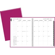 "Staples® Large Monthly Hardcover Planner, 2017, 8"" x 11"" (19504-17)"