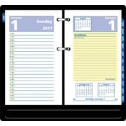 "AT A GLANCE® Daily Loose Leaf Desk Calendar Refill, 2017, 3 1/2"" x 6"", QuickNotes® (E517 50 17)"