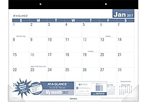 AT A GLANCE® Easy to Read Desk Pad, 2017, 22' x 17' (SKLP24 32 17)