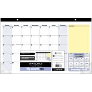 "AT A GLANCE®Compact Monthly Desk Pad, 2017, 17 3/4"" x 10 7/8"",  QuickNotes® (SK710 00 17)"