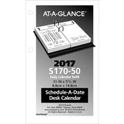 "AT-A-GLANCE® Financial Daily Desk Calendar Refill, 2017, 3 1/2"" x 6"" (S170-50-17)"