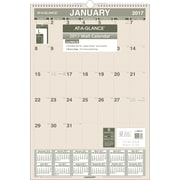 "AT-A-GLANCE® Recycled Monthly Wall Calendar, 2017, 15 1/2"" x 22 3/4"" (PM3G 28 17)"