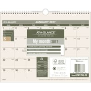 "AT-A-GLANCE® Recycled Monthly Desk/Wall Calendar, 2017, 8 1/2"" x 11"" (PM170G 28 17)"