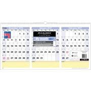 "AT-A-GLANCE® Month Horizontal Wall Calendar, 2017, 23 1/2"" x 12"", QuickNotes® 3 (PM15 28 17)"