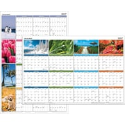 "AT-A-GLANCE® Horizontal/Vertical Erasable Yearly Wall Calendar, 2017 36"" x 24"", Seasons in Bloom (PA133 17)"