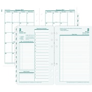 "Franklin Covey® Original Two Page Per Day Planner Refill, Loose-Leaf, 2017, 4 1/4"" x 6 3/4"" (35414-17)"