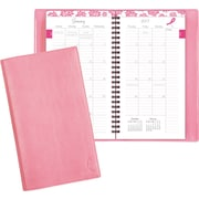 "Day-Timer® Monthly Planner, 2017, 3 1/2"" x 6 1/2"", Pink Ribbon, Wirebound (11219-1701)"