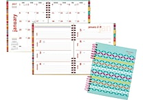 AT-A-GLANCE® Hardcover Premium Weekly/Monthly Planner, 2017, 8 1/2' x 11', Fiesta (120-905-17)