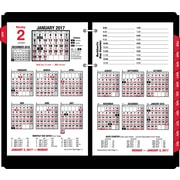 "AT-A-GLANCE® Daily Desk Calendar Refill, 2017, 4 1/2"" x 7 3/8"", Burkharts Day Counter (E712-50-17)"