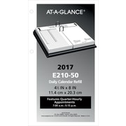 "AT-A-GLANCE® Daily Loose-Leaf Desk Calendar Refill, 2017, 4 1/2"" x 8"" (E210-50-17)"