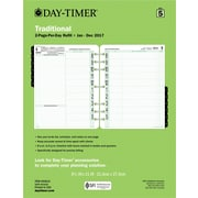 "Day-Timer® Original Two Page Per Day Refill, 2017, Loose-Leaf, 8 1/2"" x 11"" (94010-1701)"