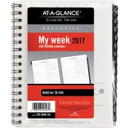"AT-A-GLANCE® Executive® Weekly/Monthly Appointment Book Refill, 2017, 6 7/8"" x 8 3/4"" (70-908-10-17)"
