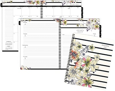 "AT-A-GLANCE® Weekly/Monthly Planner, 2017, 8 1/2"" x 11"", Monique (178-905-17)"
