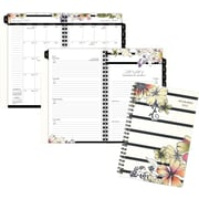 "AT-A-GLANCE® Monique Weekly/Monthly Planner, 12 Months, January Start, 4 7/8"" x 8"", Stripe Floral (178 200 17)"
