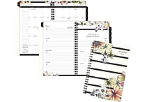 AT A GLANCE® Monique Weekly/Monthly Planner, 12 Months, January Start, 4 7/8' x 8', Stripe Floral (178 200 17)