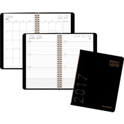 "AT-A-GLANCE® Contemporary Weekly/Monthly Planner, 2017, 4 7/8"" x 8"" (70-100X-05-17)"