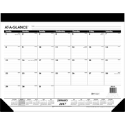 "AT-A-GLANCE® Refillable Ruled Desk Pad, 2017, 22"" x 17"" (SK22 00 17)"
