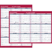 "AT-A-GLANCE® 2 Sided Compact Vertical/Horizontal Erasable Yearly Wall Calendar, 2017, 12"" x 15 11/16"" (PM330B 28 17)"