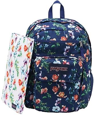 Jansport Digital Student Backpack, Mutli Navy Mountain Meadow (T69D0E2)